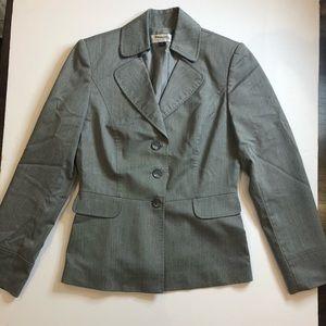 Tahari Gray Lined Blazer